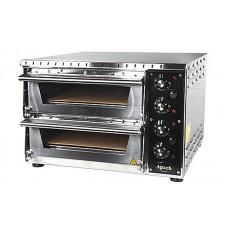 Электрическая мини-печь для пиццы Apach AMS2 (две камеры 350х410х75 мм)
