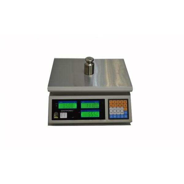 Торговые весы Днепровес ВТД-СЛ1 (F902H-3EC1) до 3 кг