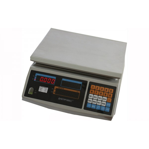 Торговые весы Днепровес F902H-6EC2 до 6 кг, точность 1 г,  жидкокристаллический дисплей