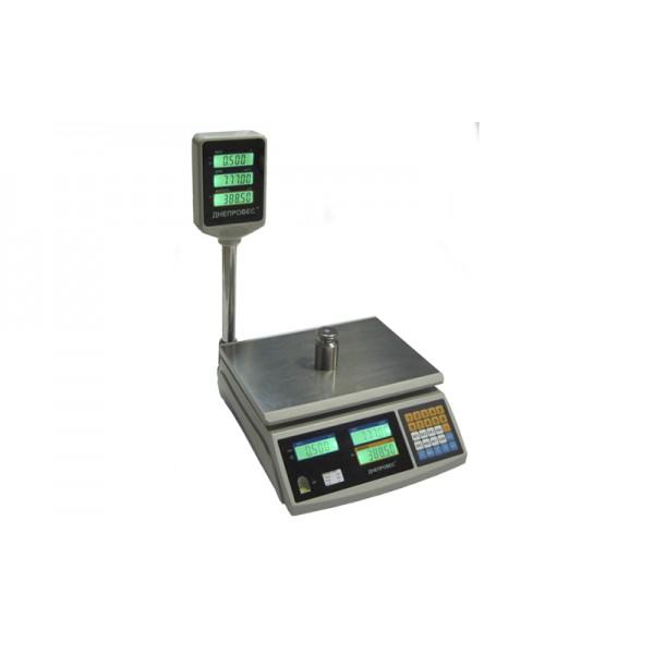 Торговые весы со стойкой Днепровес F902H-15EC до 15 кг, точность 2 г