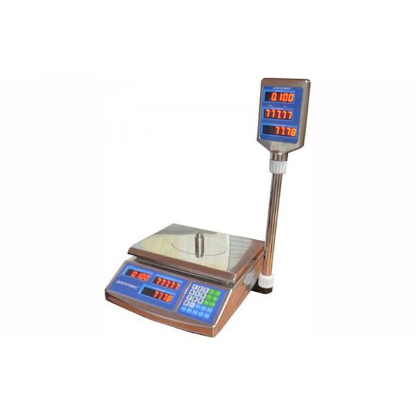 Торговые весы Днепровес F902H-3EDS до 3 кг, точность 0,5 г, светодиодный дисплей