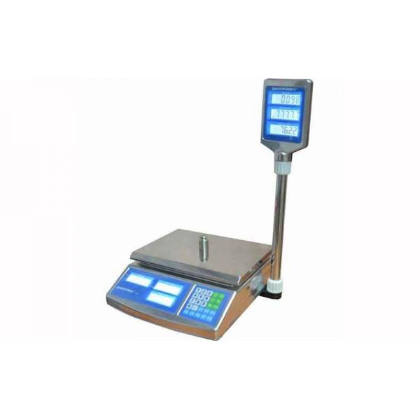 Торговые весы Днепровес (ВТД-СЛ) F902H-6ECS до 6 кг, точность 1 г, жидкокристаллический дисплей