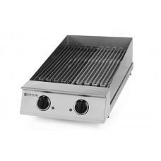 Электрический настольный вапо гриль Hendi 155103 (две зоны нагрева 325x530 мм)