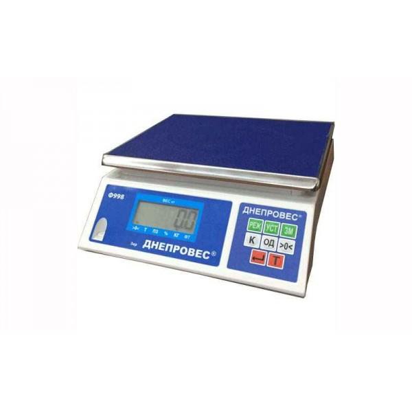 Фасовочные весы Днепровес ВТД-ФЛ (Ф998-6Л) до 6 кг, точность 1 г