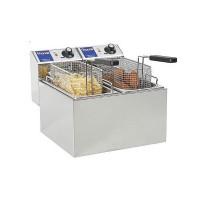 Электрическая настольная фритюрница Hendi MasterCook 207109 (две ванны по 4 л)