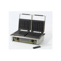 Двухпостовая электровафельница Roller Grill GED 10 для объемных вафель прямоугольной формы 3х5 клеток