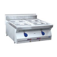 Электрический настольный мармит Abat ЭМК-80Н с четырьмя ваннами для гастроемкостей GN 1/2